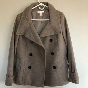 H&M sand technical wool pea coat